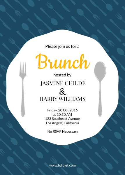 Generic Brunch Party Invitation Template FotoJet