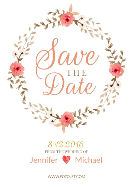 Design Save the Date Invitations Online FotoJet - save the date birthday template