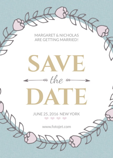 Design Save the Date Invitations Online FotoJet - Save The Date Wedding Templates