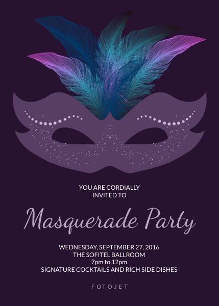 Make Your Masquerade Invitations Online FotoJet