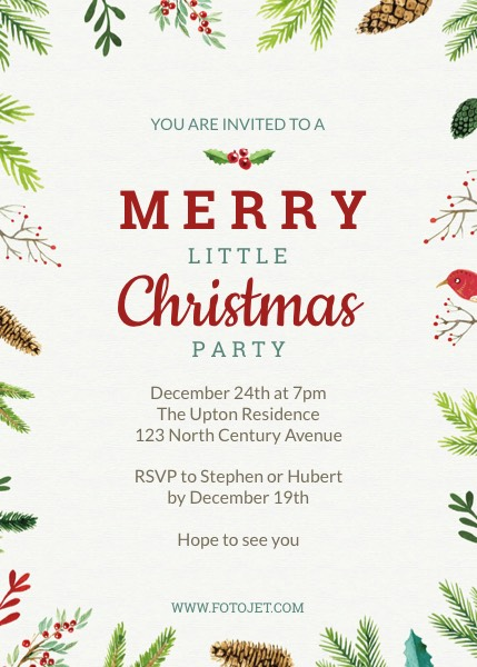 Christmas Party Invitation Template Template FotoJet
