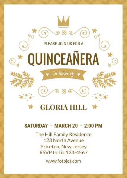 Design Your Own Quinceañera Invitations Online FotoJet