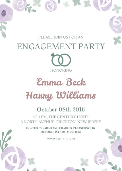 Engagement Invitation - Design Your Own Engagement Invitation Card