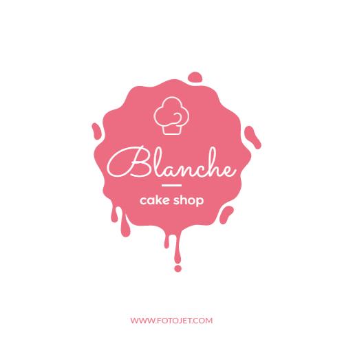 Pink Cake Shop Logo Design Template Template FotoJet