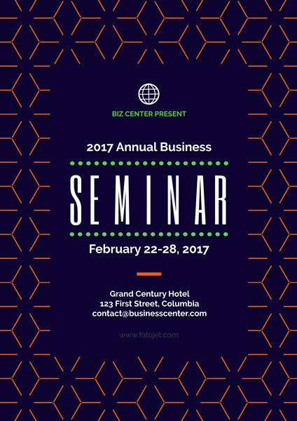 Business Seminar Poster Design Template Template FotoJet