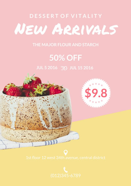 New Dessert Sale Poster Template FotoJet - for sale poster template