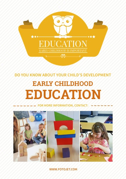 Early Childhood Education Poster Template FotoJet
