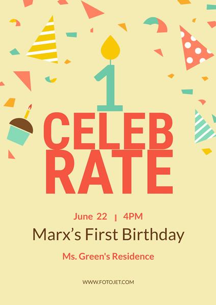 Birthday Poster Maker - Design a Happy Birthday Poster Online FotoJet