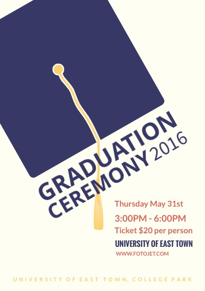 Graduation Ceremony Poster Template Template FotoJet