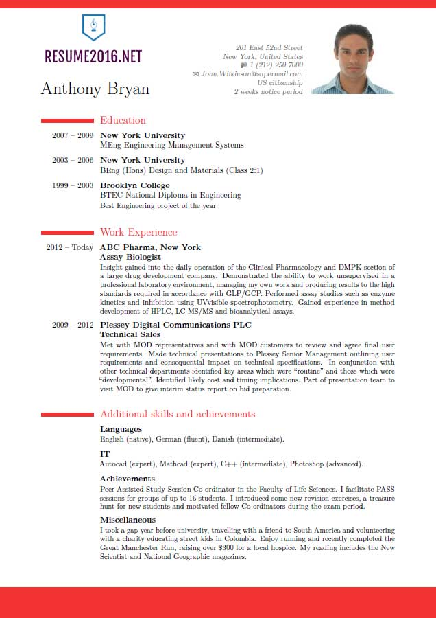 show some example of resume