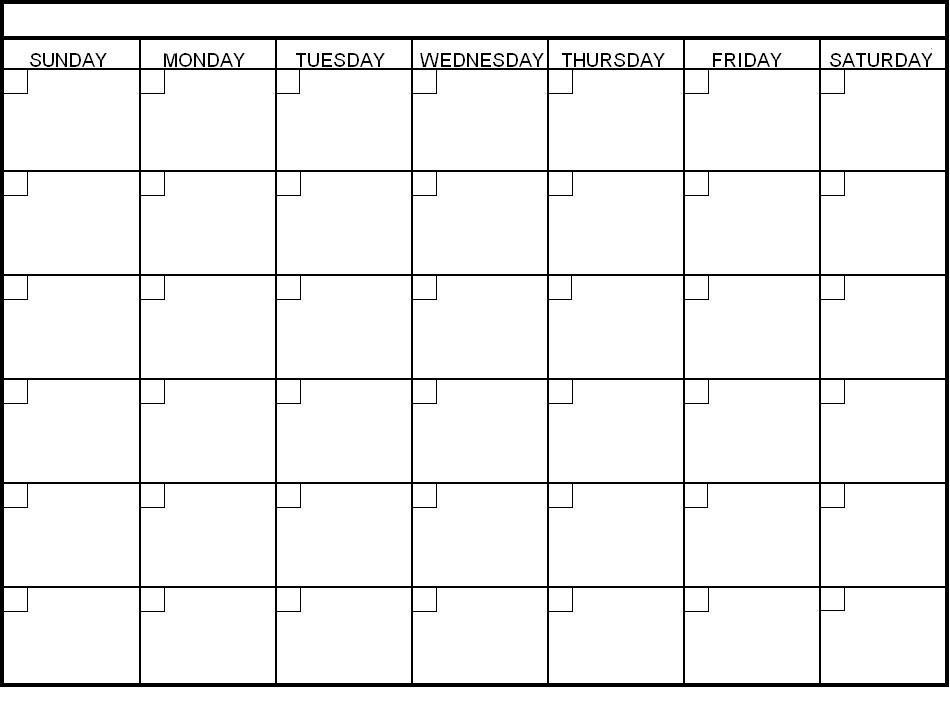 Blank Calendar Template - Fotolip Rich image and wallpaper