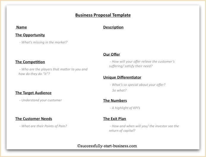 Business Proposal Template - Fotolip