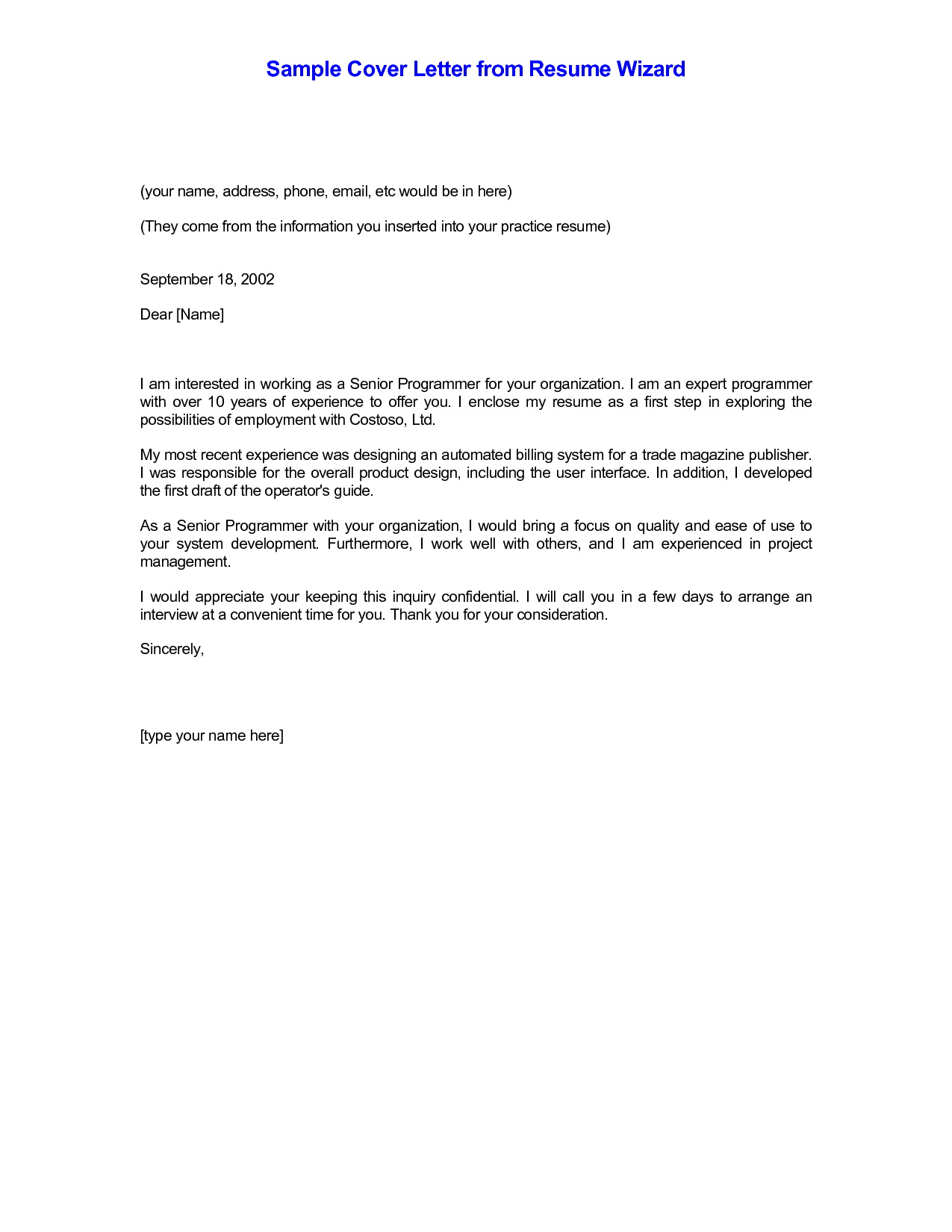 example of a email when sending resume