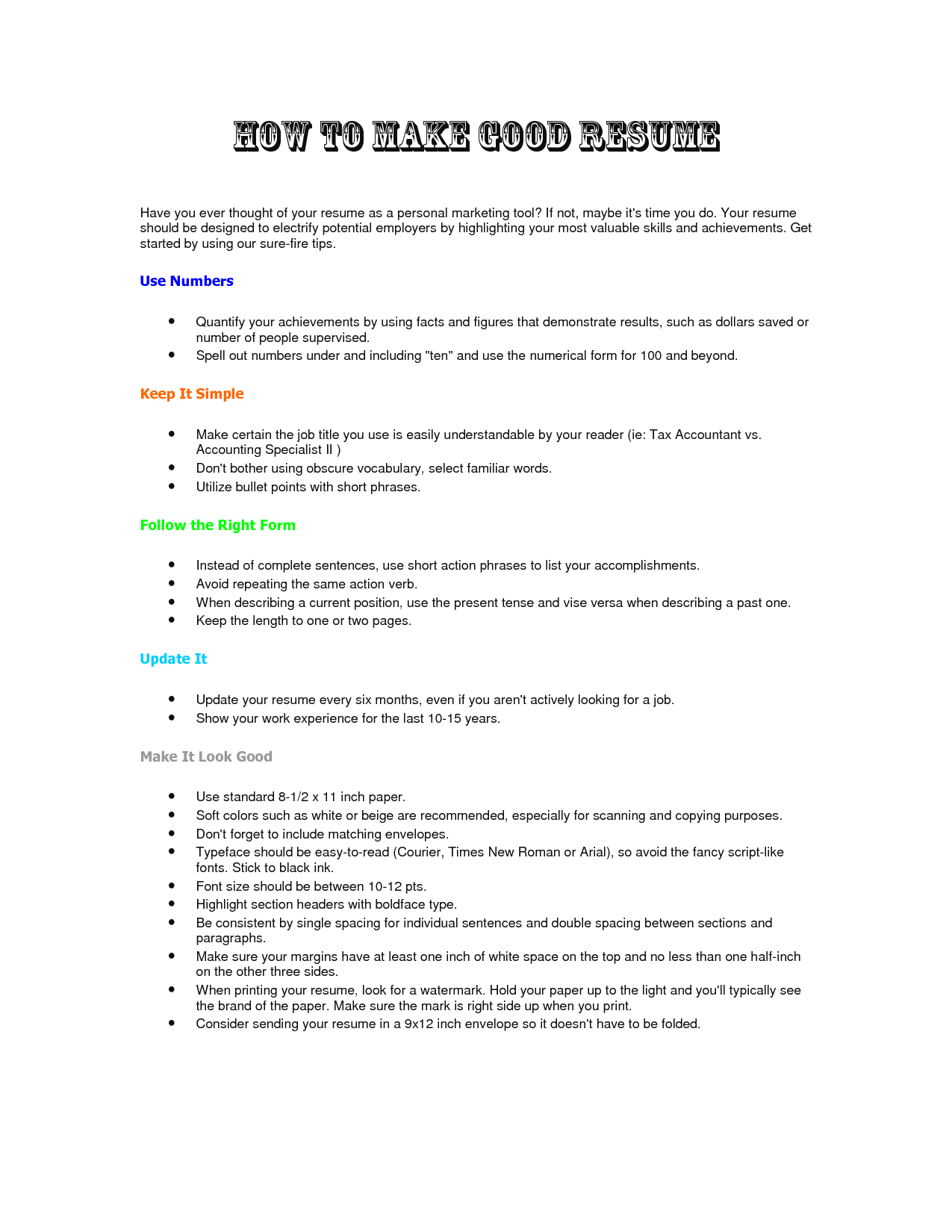 how to prepare a proper resume tk how to prepare a proper resume