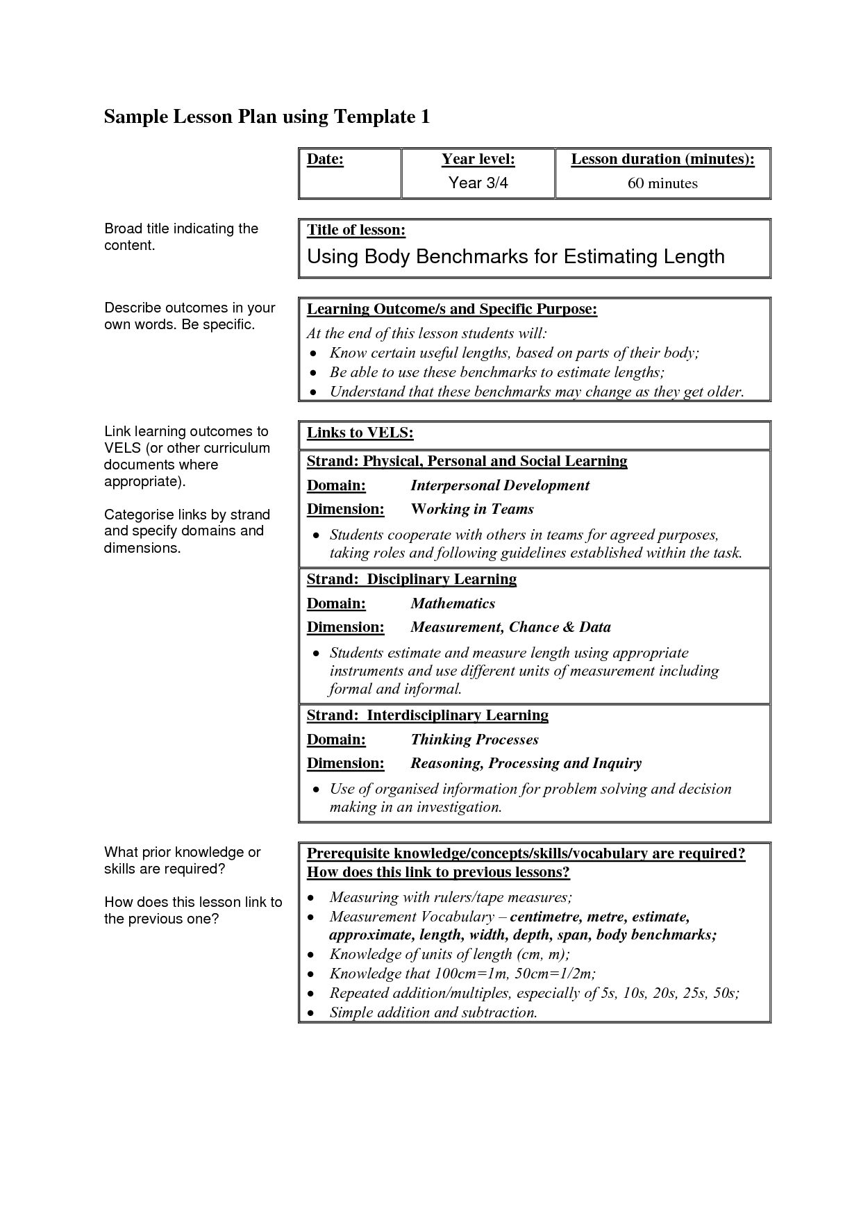 Lesson Plan Template High School Science – Sample High School Lesson Plan Template