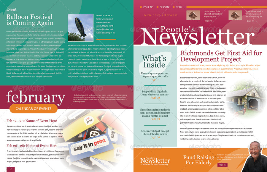 Newsletter Template Fotolip Rich image and wallpaper - Newsletter Format