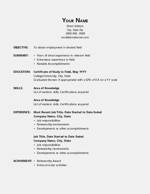 Office Resume Templates