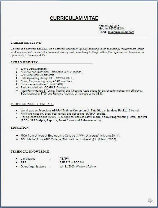 Resume Format - Fotolip Rich image and wallpaper