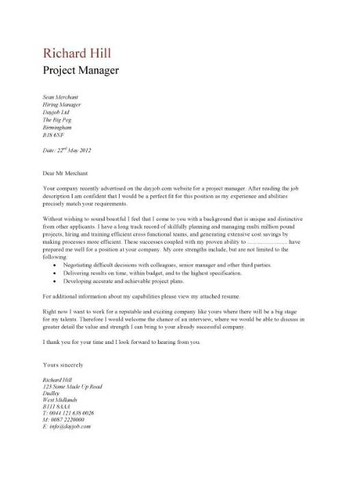 Cover Letter Sample No Specific Position   Incident Report Form ...