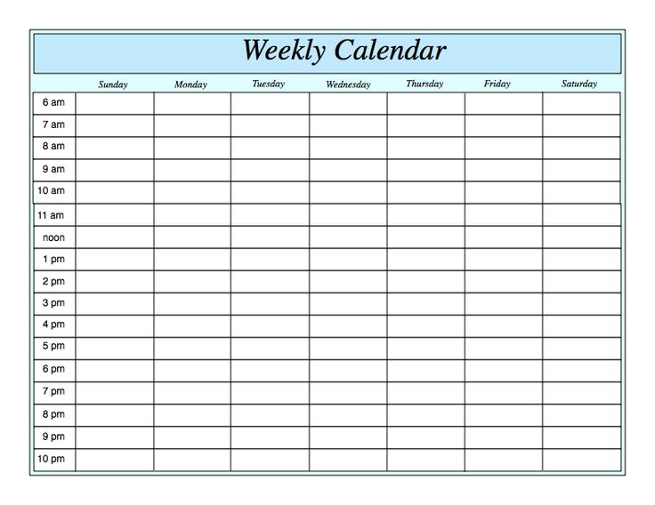 Weekly Calendar Fotolip Rich image and wallpaper - weekly calendar template