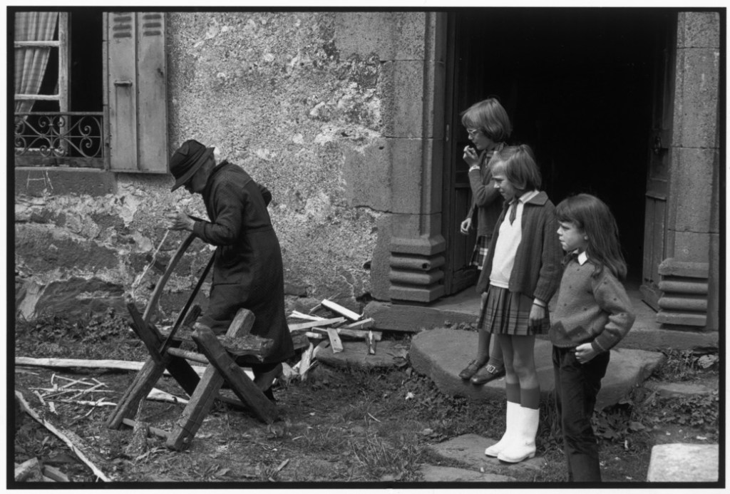 FRANCE. Region of Auvergne. The Cantal 'department'. Village of Moussages. 1969.