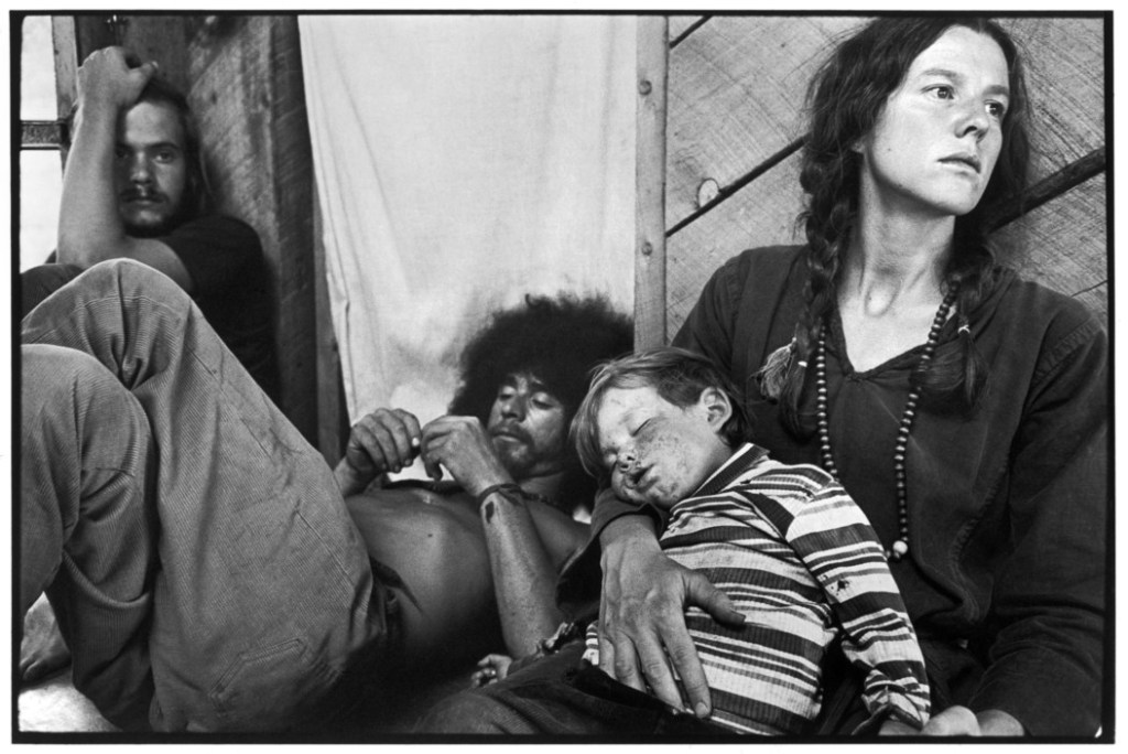 USA. New Mexico. Near Taos. The Lama Foundation community. 1971.
