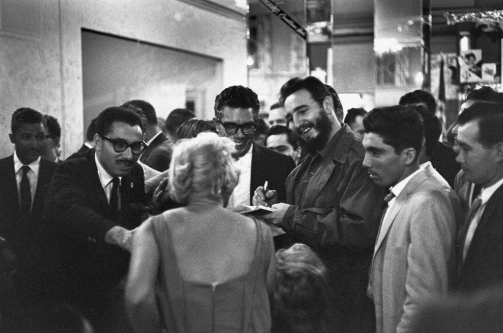 USA. New York City. District of Harlem. 1960. Hotel Theresa. Cuban President Fidel CASTRO was in New York to attend a General Assembly meeting of the United Nations.