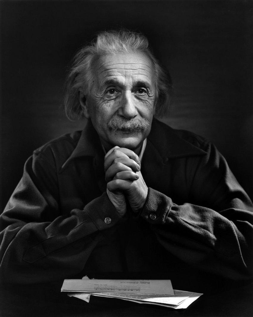 Albert Einstein, Princeton University 1948, by Yousuf Karsh