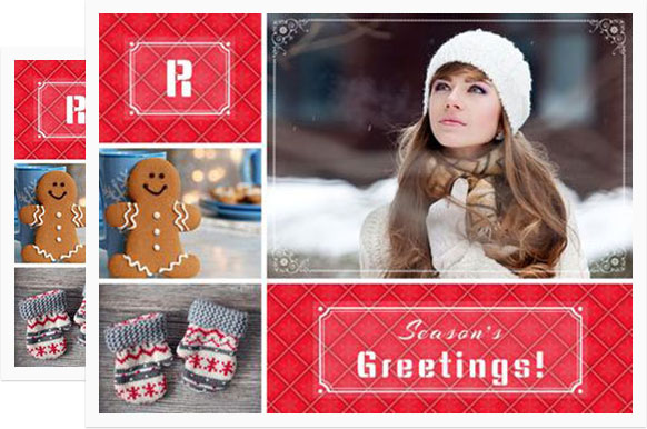 Photo Collage Christmas Cards Online \u2013 Merry Christmas And Happy New
