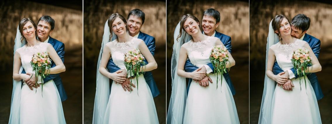 Hochzeitsfotos in Mannheim, zusammengestellt als Collage.