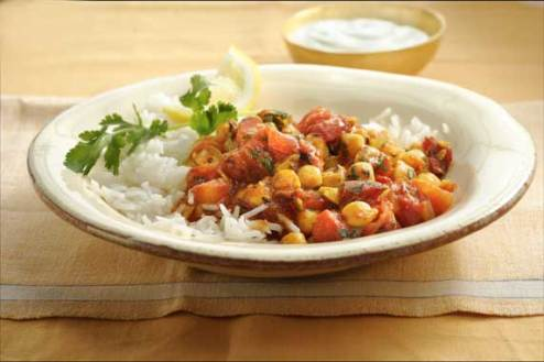 Middle Eastern Chickpea and Tomato Curry with Rice - Found My ...
