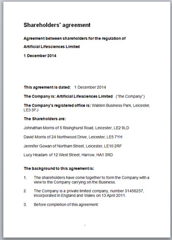 Where To Find The Best Start-Up Shareholders Agreement