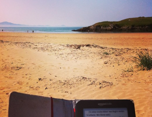 Beach Wales Reading Kindle