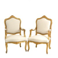 Gold + White Velvet Chairs  After | Found Rentals