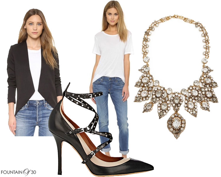 elevate-jeans-and-a-tshirt-stement-necklace-pumps-black-jacket