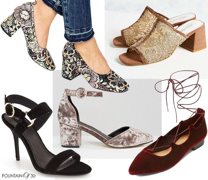 shoes-brocade-block-heels-lace-suede-mules-velvet-sandals-lace-up-flats
