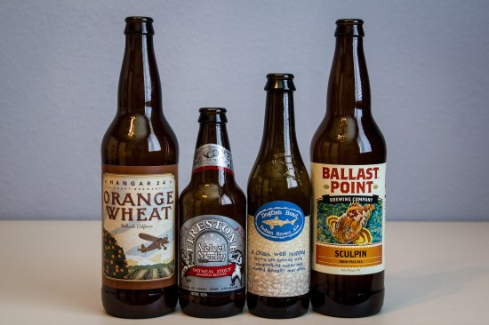 Hangar 24, Firestone Walker, Dogfish Head, and Ballast Point Brewing Co. beers for