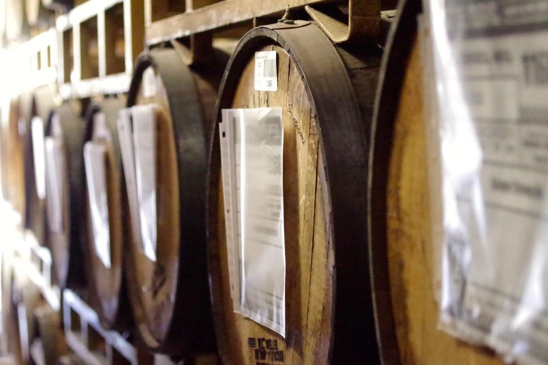 Barrels at Bottle Logic Brewing