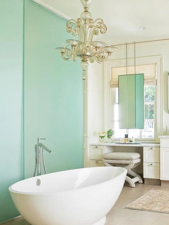 Master Bathroom ideas green - Four Generations One Roof - green bathroom ideas