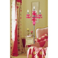 Fulton Chandelier Four Light Floor Lamp- Pink - 8512-FL