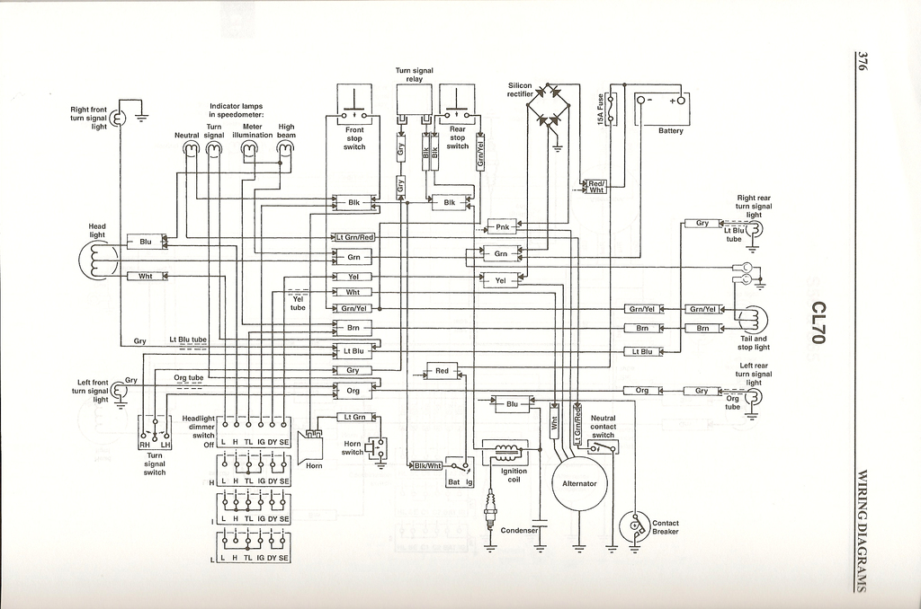 Honda Cl70 Wiring Wiring Diagram