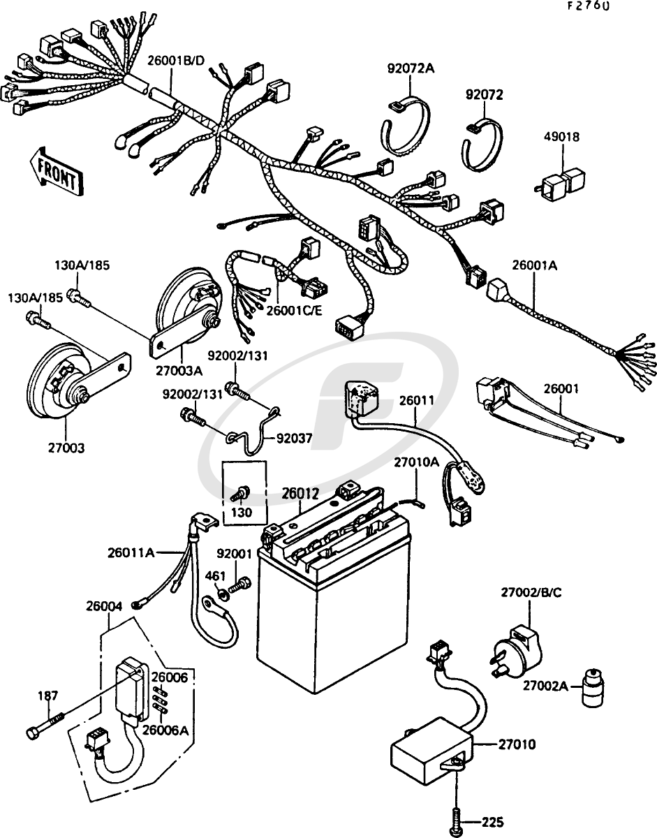 kawasaki motorcycle wiring diagram for a 550