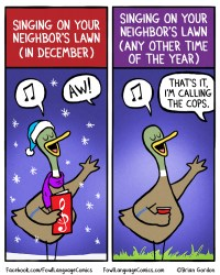 singing on lawns