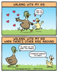 walking with my kid