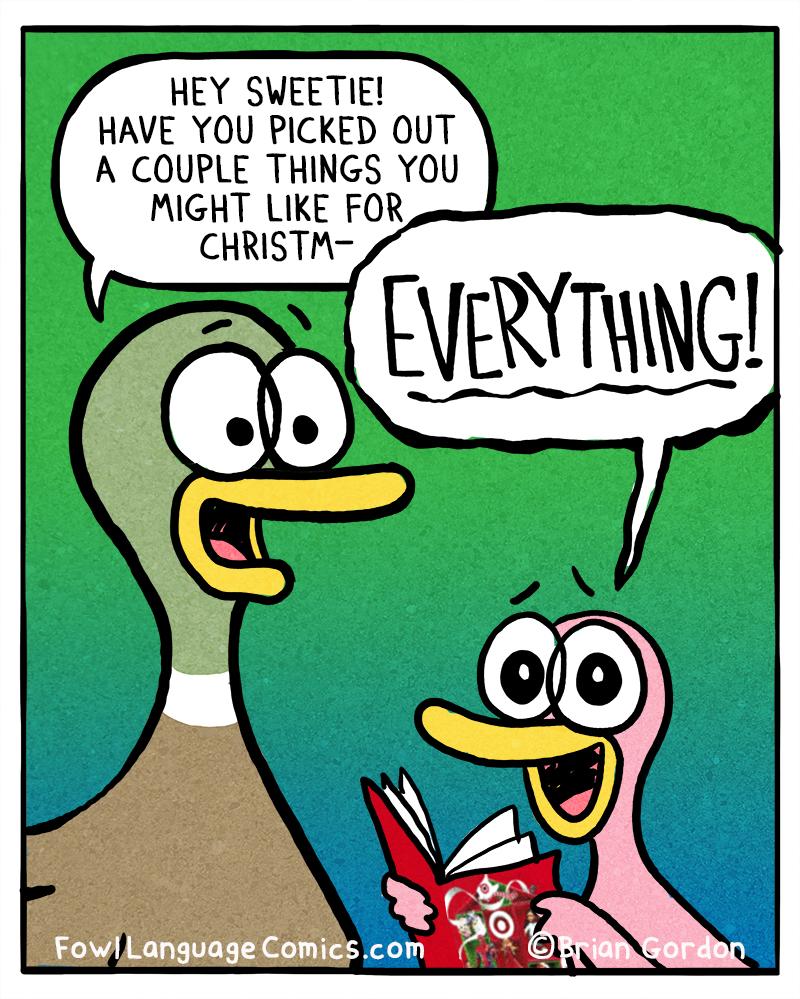 Christmas List Fowl Language Comics