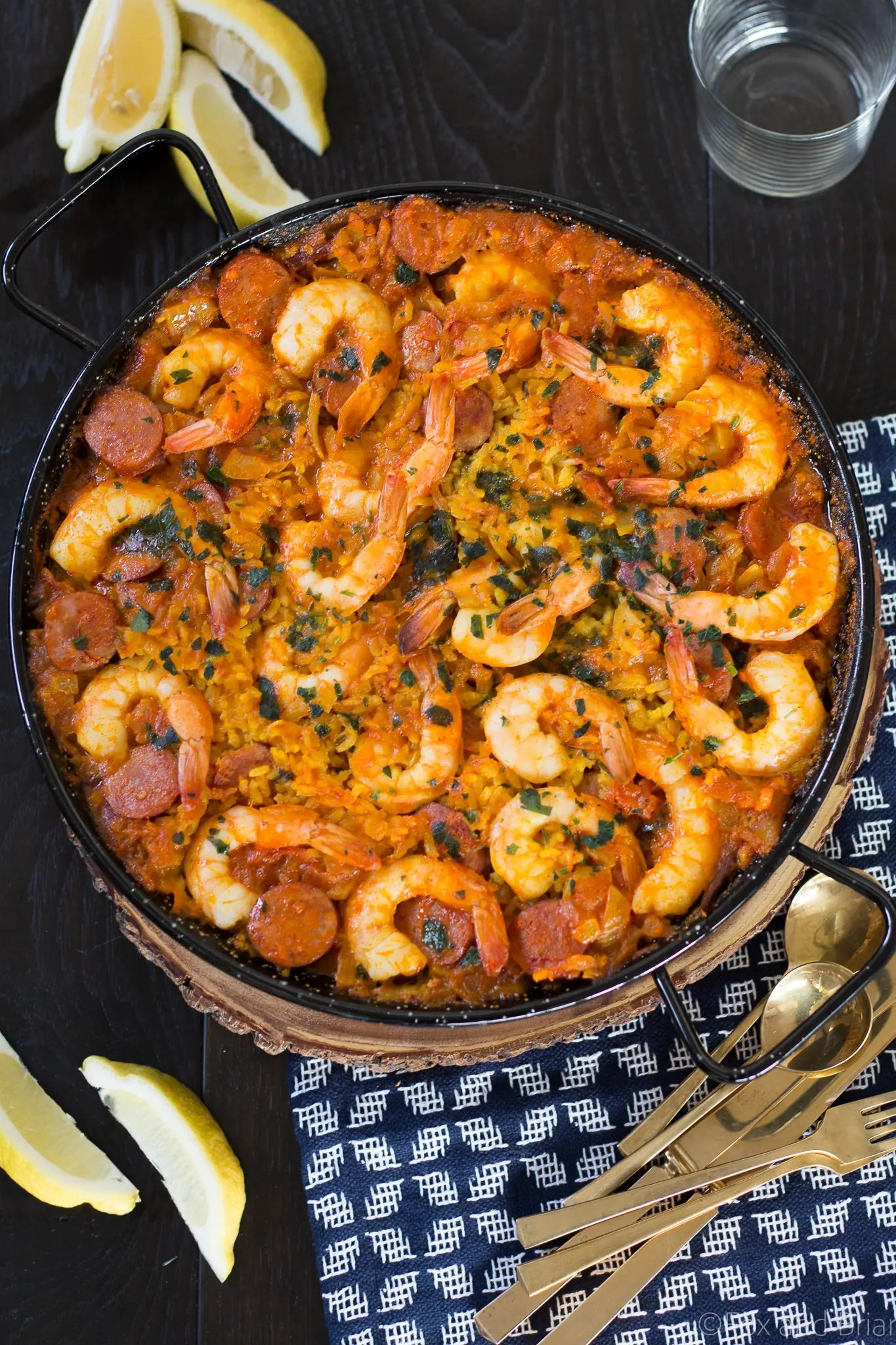 Shrimp and Chorizo Paella is a simple version of the classic Spanish ...