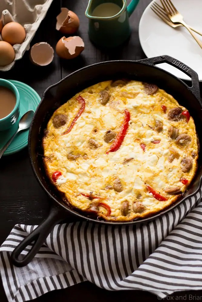 Sausage And Cheese Frittata Recipe — Dishmaps