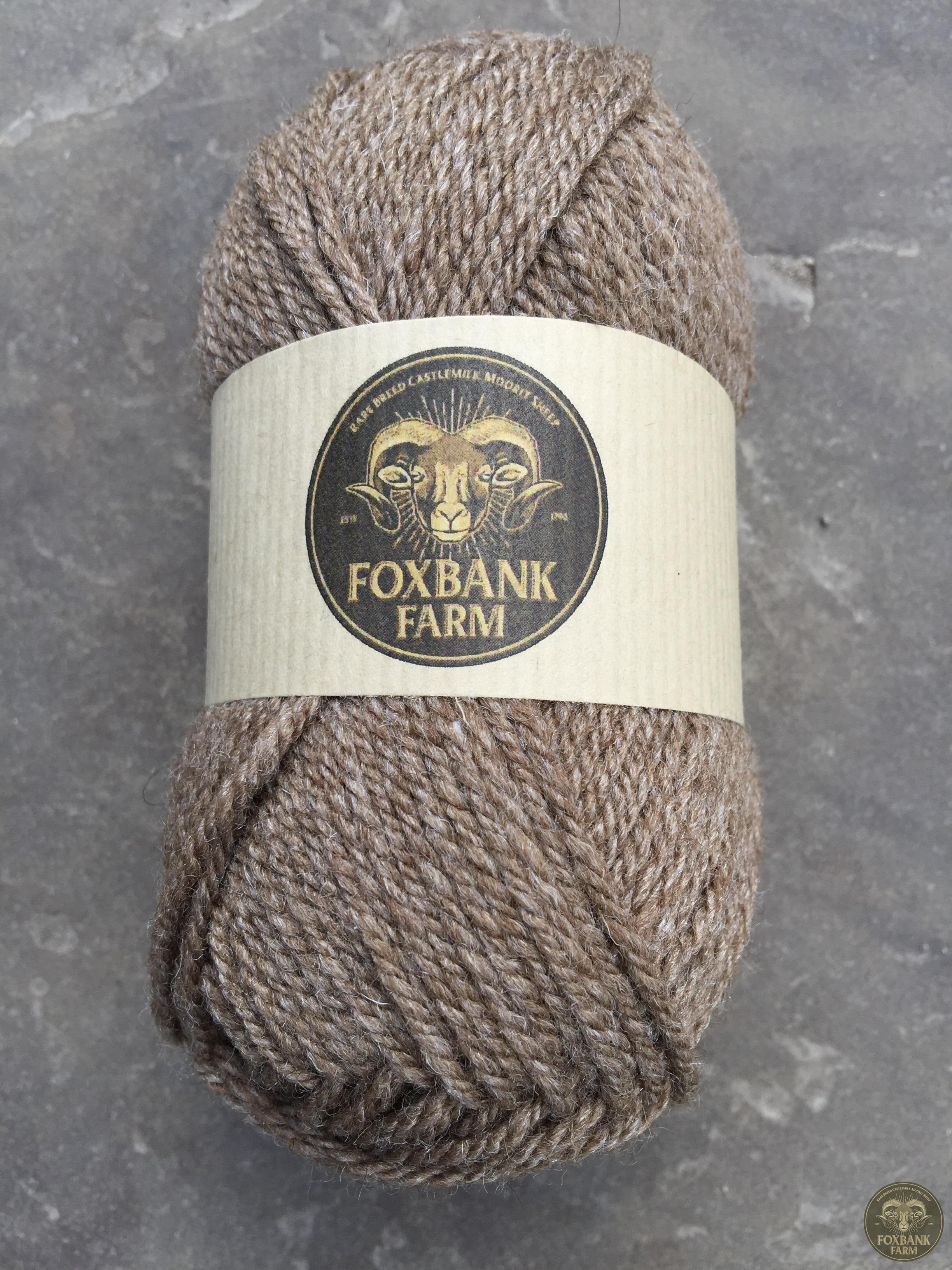 Foxbank Farm luxury Castlemilk/Tussah Silk worsted spun blend.