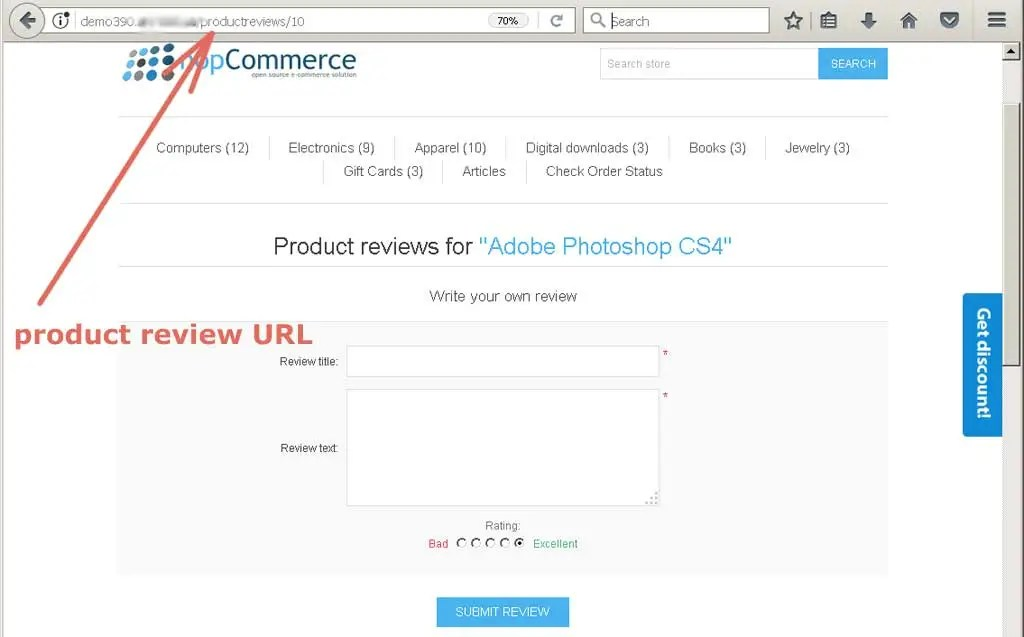 Installation and configuring plug-in NopSmartCampaigns - product review template