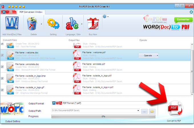 FoxPDF Doc to PDF Converter, Doc to PDF Converter, Convert Doc to - Convert File To Pdf